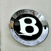 Genuine Bentley Continental Gt Gtc And Flying Spur Black Wheel Centre Cap Set Of 4