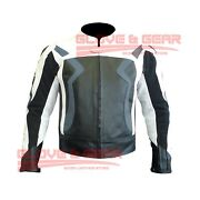 Bmw 3875 Grey Motorcycle Handmade Tailored Cowhide Leather Armoured Jacket