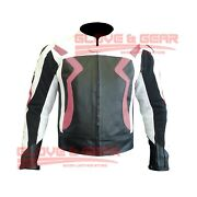 Bmw 3875 Motorcycle Handmade Tailored Pink Cowhide Leather Armoured Jacket