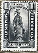 Us Stamp Scott Pr81 Mint Og Hinged One Cent Newspaper And Periodicals