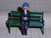 Johillco John Hill And Co Vintage Lead Woman Reading Book On Bench Ex Cond F/s