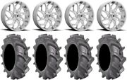 Fuel Runner 24 Wheels Polished 40 Bkt At 171 Tires Polaris Rzr Turbo S / Rs1