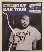 Post Malone Bud Light Dive Bar Tour Poster August 5 2019 New York City Nyc Rare