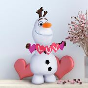 New Disney Frozen Olaf Snowman Huge Standing Plush 21andrdquo Luv Rare Htf Collectible