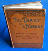 George And Weedon Grossmith Diary Of A Nobody. First Arrowsmith 1892