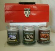 Yankee Candle Tool Box Man Town Camouflage Mmm Bacon 8 Oz New Retired