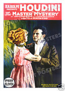 The Master Mystery Lobby Card Poster Os 1919 Harry Houdini Serial Episode 11