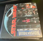 Huge Lot Of Star Wars Cards, Topps Widevision W/binder