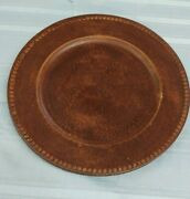 Gibson Copper Rust Plastic Round Decorative Charger Plates Party Decor