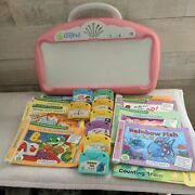 Leap Frog Little Touch Leap Pad - System + 8 Books And Cartridges - Pink - Tested