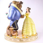 Disney Parks Big Figurine Beauty And The Beast Belle Rose Base Full Size