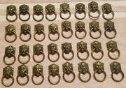 32 Vintage Metal Lion Head Drawer Cabinet Pulls Hardware With Rings Small