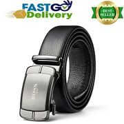 Boss Aron Mens Leather Belt With Automatic Buckle 35mm Wide Ratchet Dress To Gg