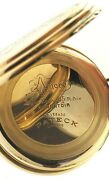 Pateck Geneve 52mm Pocket Watch Double Hunter 14k Authentic Yellow Gold