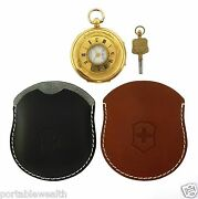 Swiss Army West End Watch Co. 43mm Pocket Watch 18k Yellow Gold Key Wind And Cases