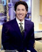 Joel Osteen Hand Signed Photo 8 X 10 Color Authentic Autograph Blessed By Joel
