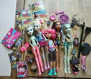 Monster High Lot Replacements Dolls Nefera Dance Gloom Rare Shoe Icoffin Card Mh