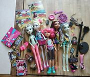 Monster High Lot Nefera Lagoona Frankie Clawdeen Doll Gloom Dance Card Replaceme