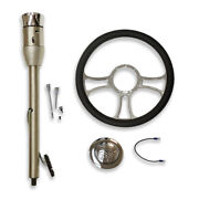 30 Manual Ss Steering Column And Adapter And 14 Chrome Wheel And Flame Horn Button