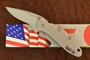 Kershaw Made In Usa Chive Speedsafe Ken Onion Knife 1600 Silver Nice 8832