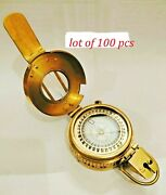 Nautical Marine Brass Military Best Collectible Compass Lot Of 100 Pcs