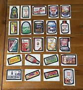 1973/74 Wacky Packages 7th Series Set Of 23 Stickers And 1 Complete Puzzle