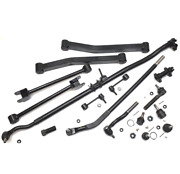 Hd Ball Joint Drag Link Tie Rod End Control Arm Damper Kit Jeep Wrangler 07-18