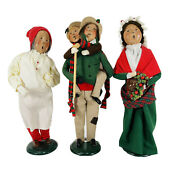 Byers Choice Lot Of 3.. Bob Cratchit And Tiny Tim, Scrooge And Mrs. Cratchit
