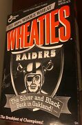 Oakland Raiders Signed Wheaties Boxtim Brown☠️silver And Black Are Back In Oak☠️