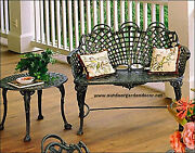 Outdoor Garden Patio Park Cast Aluminum Bench French Victorian Antique Seating