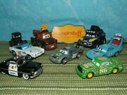 Disney Pixar Cars Convoy Brothers Lassetire Mcqueen And More Displayed Only