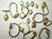 Bulova Elgin Gold Filled Vintage Ladies Watches For Repair Some With Orig Band