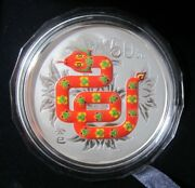 China 2013 Snake Silver Colored 5 Oz Coin