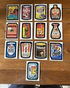 Topps 1974 Wacky Packages 8th Series Set Of 28/30 Stickers W Complete Puzzle