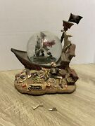 Pirates Of The Caribbean Disney Snowglobe And Musicbox - In Box Need Repair