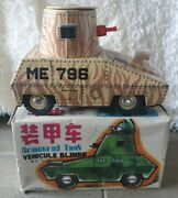 Vehicules Blinde Armoured Tank Me 796 China 1970's Toys Rare Collection