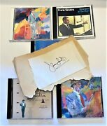 Lot Of 5 Frank Sinatra Music Cd's - Collectibles Sinatra Jazz - Autograph 1970's