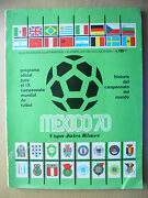 1970 Mexico World Cup Final Programme With England Playerand039s Signed As B Moore+