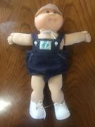 Vintage Cabbage Patch Doll Baby Boy Xavier Roberts 1978 82 Overalls/shoes