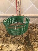 Pyrex 1 Qt Green Stripe Bands On Clear Glass 7201. Condition Is Used