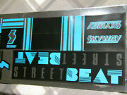 Old School Bmx Skyway Street Beat Decal Original Set Sticker Blue Vintage Nos