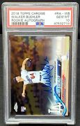 2018 Topps Chrome Auto Dodgers Star Walker Buehler Rookie Card Psa 10 Gem Mint