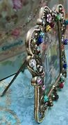Michal Negrin Ooak Table / Standing Decorated Floral Metal Frame Picture