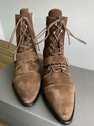 All Saints Katy Ankle Tan Suede Boots Ladies Uk 6 Eur 39 New And Boxed Rrp Andpound228
