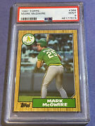 1987 Topps Mark Mcgwire Rc Rookie 366 Psa 9