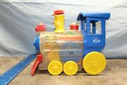 Vintage 1974 Ideal Toy Plastic Train Works/ Whistles 4d1