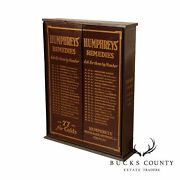 Humphreys' Remedies Antique Metal Country Store Apothecary Medical Cabinet
