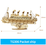 Cruiseship Diy 3d Wooden Puzzle Games Boat And Ship Model Kits Toys Birthday Gift