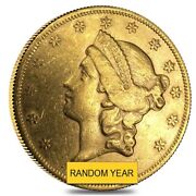 20 Gold Double Eagle Liberty Head Type Ii Almost Uncirculated Random 1866-1876