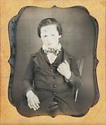 Angry Cabin Boy With Earrings Very Young Sailor 1/6 Plate Daguerreotype G818